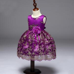 violeta bērnu kleita