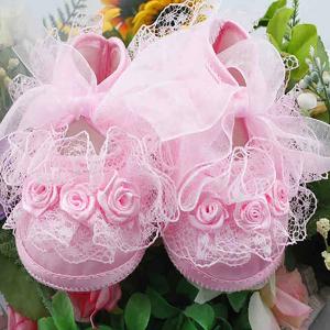 Zīdaiņu kurpītes rozā