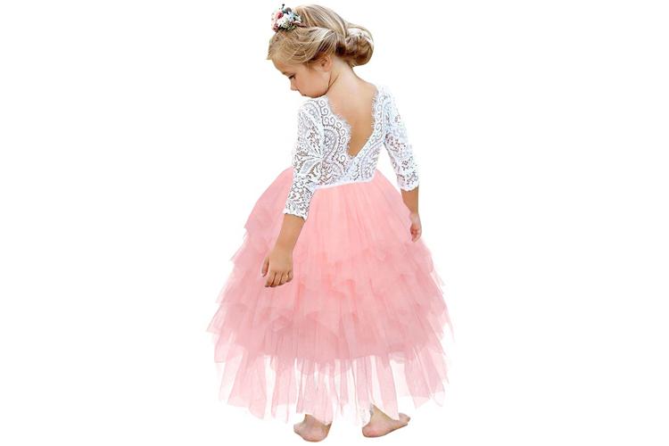 Bērnu kleita ar mežģīnēm Madara