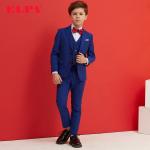 Slim fit zēnu uzvalks zils. Trīsdaļīgs uzvalks Marks