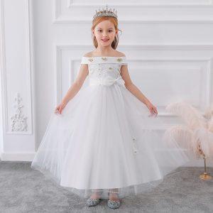 Gara svētku kleita balta