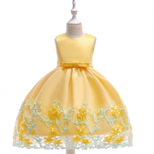 Dzeltena svētku kleita