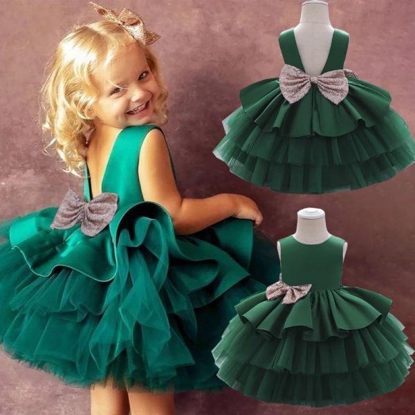 Zaļa balles kleita