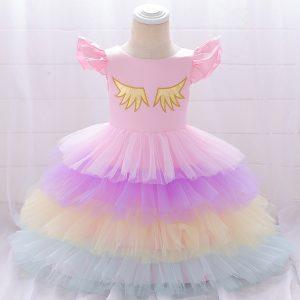 Kupla vienradža kleita rozā