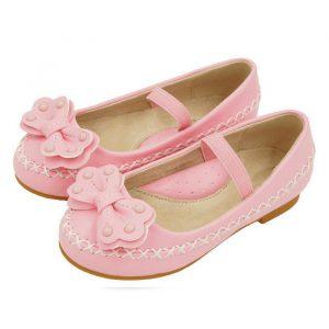 Rozā bērnu kurpītes