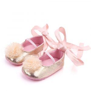 Mirdzošas mazuļu kurpītes rozā
