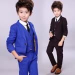 Stilīgs uzvalks zils. Trīsdaļīgs uzvalks zēnam
