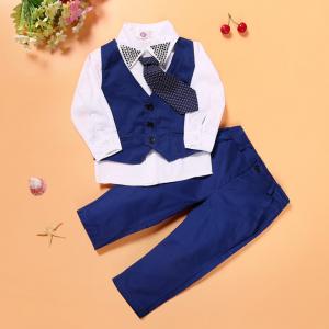 Bērnu uzvalks zils ar vestīti