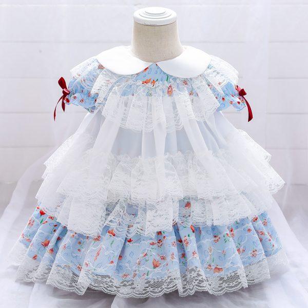 Bērnu kleitiņa spāņu stilā