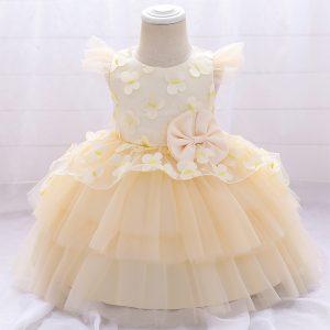 Bērnu kleitiņa šampanieša krāsā
