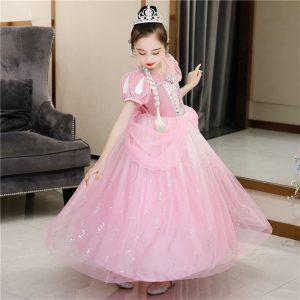 Rozā princeses kleita
